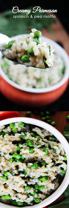 EASY AND DELICIOUS! If you can stir rice, you can make this delectable risotto!. Creamy (without any cream!), cheesy and SO MUCH BETTER than any regular rice! | Carlsbad Cravings