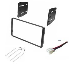 asc single din car radio dash kit wire harness and antenna car stereo dash kit wire harness and radio tool for installing a double din