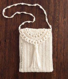 Monedero o bolsito tejido a crochet de una sola pieza (1 piece crochet purse)!