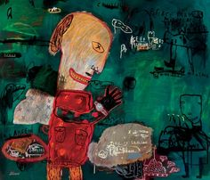"""Saatchi Art Artist deny pribadi; Painting, """"time is coming for escape"""" #art"""