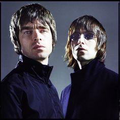 Noel Gallagher and Liam Gallagher by Chris Floyd.