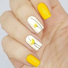 There are three kinds of fake nails which all come from the family of plastics. Acrylic nails are a liquid and powder mix. They are mixed in front of you and then they are brushed onto your nails and shaped. These nails are air dried. Flower Nail Designs, Nail Designs Spring, Nail Art Designs, Spring Design, Easter Nail Designs, Bright Nail Designs, Tulip Nails, Flower Nails, Pastel Nails