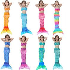 Clownfish Mermaid Tail For Swimming Cosplay Swimsuit Kids Sparkle Mermaid Tails Swimmable Costume Swimwear Sets With Monofin To Win A High Admiration And Is Widely Trusted At Home And Abroad. Mother & Kids