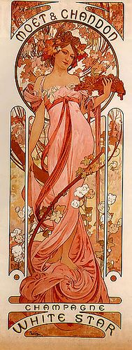 Alfonse Mucha - Moet Chandon - White Star Girl