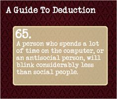 A Guide to Deduction | | at least ive gotten good at not blinking much.