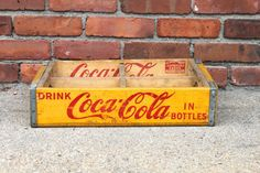 Coke Crate Yellow Chattanooga Cases 1955 by WarrenExchange on Etsy, $35.00