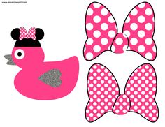Duck & Bows from Princess Minnie Inspired Birthday Printable Photo Booth Prop Set Minnie Birthday, 3rd Birthday Parties, 2nd Birthday, Birthday Ideas, Minnie Mouse Pink, Minnie Mouse Party, Mickey Mouse, Disney Alphabet, Photobooth Props Printable