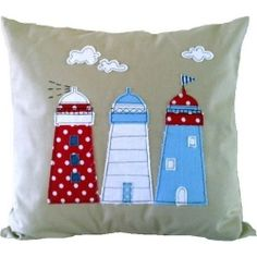 The Lighthouse cushion by Jo Fulham for From the Wilde