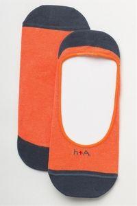 loafer liner collection tangerine men's no-show socks