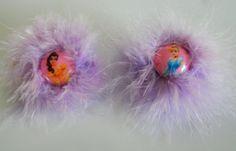 Disney Princess Fluff Hair Clips by LilTotWonder on Etsy, $12.50