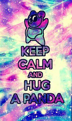 Keep calm Panda galaxy wallpaper I created for the app CocoPPa! #CocoPPa #tribal