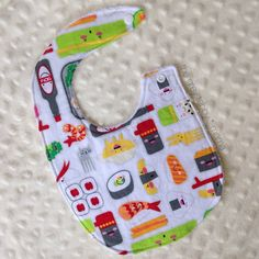 Sushi Bento Box Kawaii #Baby Bib by thegreytabbymama on #Etsy
