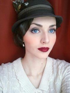 Idda Van Munster, 1920's makeup and hair