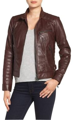 3698aa83c35c4 Bernardo Quilted Leather Motorcycle Jacket Size 12 (L) - Tradesy Coloured  Leather Jacket,