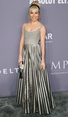 Sienna Miller in a Dior dress