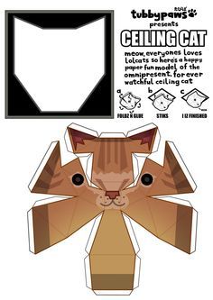 paper cat for the ceiling