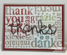 A different use for background stamps using the A World of Thanks from Stampin' Up! in the Annual Catalog