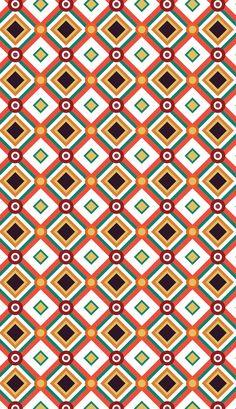Retro pattern design by PINEAPPLE Studio #patterndesign, #surfacedesign