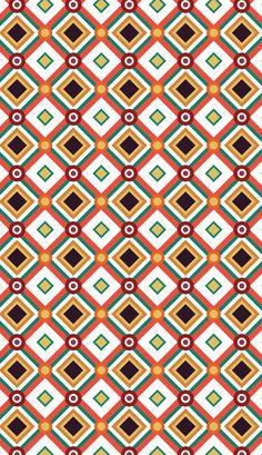 Retro pattern design by PINEAPPLE Studio #patterndesign, #surfacedesign