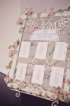 Vintage seating plan