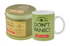 Dads army dont panic mug in a tin