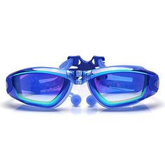 7eeb142db35 Little Cherry Mirrored Antifog UV Protection Swim Swimming Gogglesmask with Silicone  Soft Ear Plugs Adjustable Nose