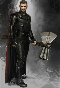 Avengers: Infinity War: Thor with Stormbreaker Marvel Dc Comics, Marvel Avengers, Marvel Comic Universe, Marvel Heroes, Marvel Characters, Marvel Movies, Marvel Cinematic Universe, Captain Marvel, Marvel Concept Art