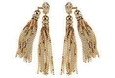 Sunset Double Tassel Earrings on OneKingsLane.com