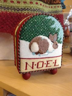 Stitches and finishing, noel needlepoint bunny