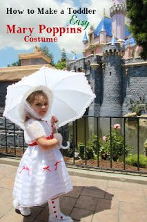 Clearwater Cottage: How to Make A Toddler Sized Mary Poppins White Dress Costume - The Easy Way Mary Poppins White Dress, Mary Poppins Hat, Mary Poppins Costume, Run Disney, Disney Running, World Book Day Ideas, Disneyland Princess, Fall Fest, Running Costumes