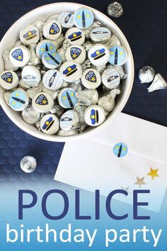 Fun Express Police Badge Name Tag Stickers Roll of 100 School Party Supplies 1