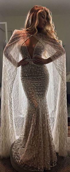 Wedding Dress and bridal cape by Berta Bridal | @bertabridal