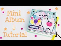 Itsy Bitsy Minialbum [tutorial | deutsch] - YouTube Mini Scrapbook Albums, Diy Scrapbook, Mini Albums, Scrapbooking, Echo Park, Mini Album Tutorial, Bookbinding, Stamping Up, Mini Books