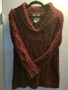 9b8970a9ad5 CURIO Cardigan Womens Size L Knit Multi Cardigan Sweater Big Buttons   fashion  clothing