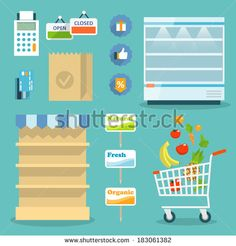 Grocery Cart Stock Vectors & Vector Clip Art | Shutterstock