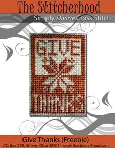 Thanksgiving Cross Stitch Design - This would made darling napkin ring covers!