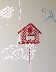 I prefer cute vintage birdhouses to wire cages! Design