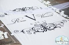 Elegant wedding aisle runner can sparkle with crystals for a diva wedding #aislerunners, #weddingaislerunners