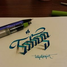 3D Lettering with Parallelpen&Pencil - Part 1 on Behance