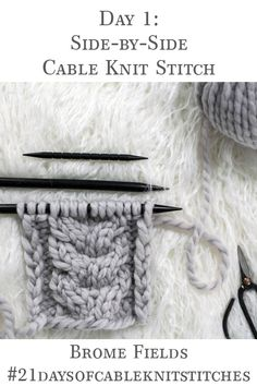 Learn how to knit the Side-by-Side Cable Knit Stitch in today's video tutorial + grab the FREE Headband Knitting Pattern! Learn how to knit the Side-by-Side Cable Knit Stitch in today's video tutorial + grab the FREE Headband Knitting Pattern! Cable Knitting Patterns, Knitting Stiches, Free Knitting, Vogue Knitting, Knit Stitches, Yarn Projects, Knitting Projects, Knitting Tutorials, Knitted Headband Free Pattern