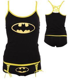 DC Comics Batman Logo Glow-In-The-Dark Tank Set. Yes I would wear this... ALL THE TIME