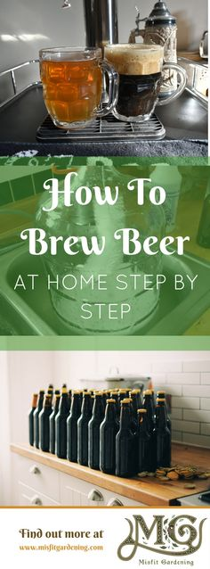 How to Make Beer at Home Step By Step - Misfit Gardening - How to brew beer at . - How to Make Beer at Home Step By Step – Misfit Gardening – How to brew beer at home step by st - Beer Brewing Kits, Brewing Recipes, Homebrew Recipes, Beer Recipes, Brunch Recipes, Alcohol Recipes, Make Beer At Home, How To Make Beer, Wilton Cake Decorating