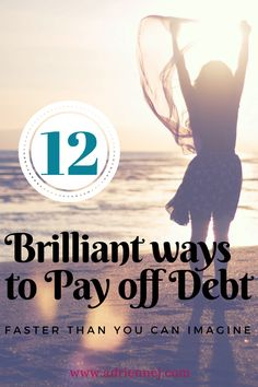 12 Brilliant ways to pay of debt. Financial freedom doesn't have to be hard or complicated. Read my top 12 ways to financial freedom and debt free living. Ways To Save Money, Money Tips, Money Saving Tips, Managing Money, Saving Ideas, Debt Free Living, Instant Cash, Finance Organization, Debt Payoff