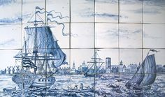Delft Seascape Tile Panel Mural