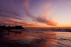Ocean Beach San Diego | Dusk over the Ocean Beach fishing pier in San Diego California