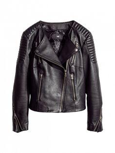 The most versatile black leather jacket. // Leather Biker Jacket by H&M