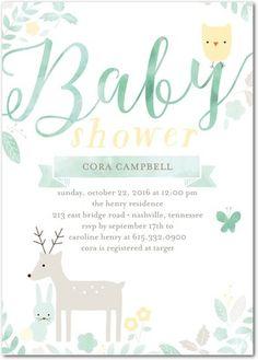 Woodland Animals Baby Shower >> Invitations
