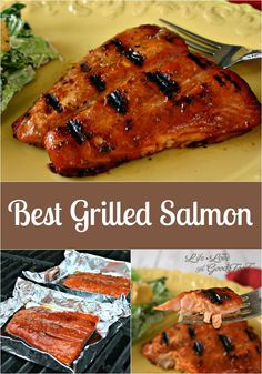 How to Make the Best Grilled Salmon in Foil - Life, Love, and Good Food - Absolutely delicious grilled salmon. I've been making a large filet each week and using it for a - Salmon Dishes, Fish Dishes, Seafood Dishes, Fish And Seafood, Seafood Recipes, Dinner Recipes, Cooking Recipes, Healthy Recipes, Seafood Bbq