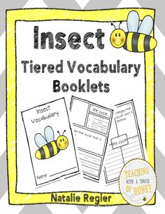 "Insect Tiered Vocabulary Booklets - Develop your students' vocabulary skills with tiered insect vocabulary booklets that match their learning needs! The ""Insect Tiered Vocabulary Booklets"" package is aligned with the common core and contains three different versions of the vocabulary booklet. The words included in the vocabulary booklets are: colony, hatch, insect, larva, life cycle, metamorphosis, nectar, pest, pollinate, and stinger. #teachersherpa"