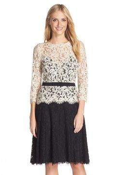 Tadashi Shoji Lace Fit & Flare Dress (Regular & Petite) available at #Nordstrom